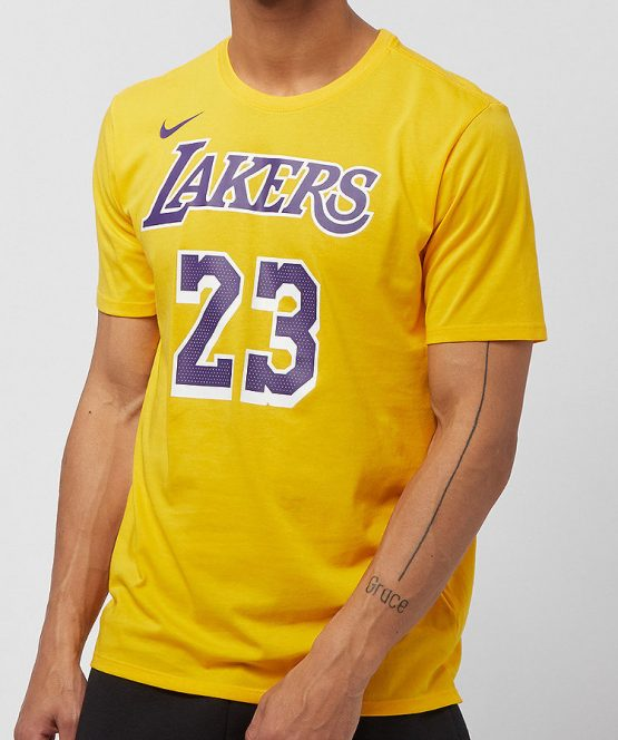 Vêtements NIKE t-shirt LA Lakers Dry Tee Lebron James Brooklyn99